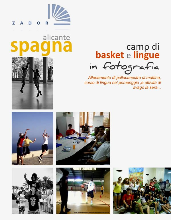 Camp di basket et lingue all'estero Alicante  Spagna