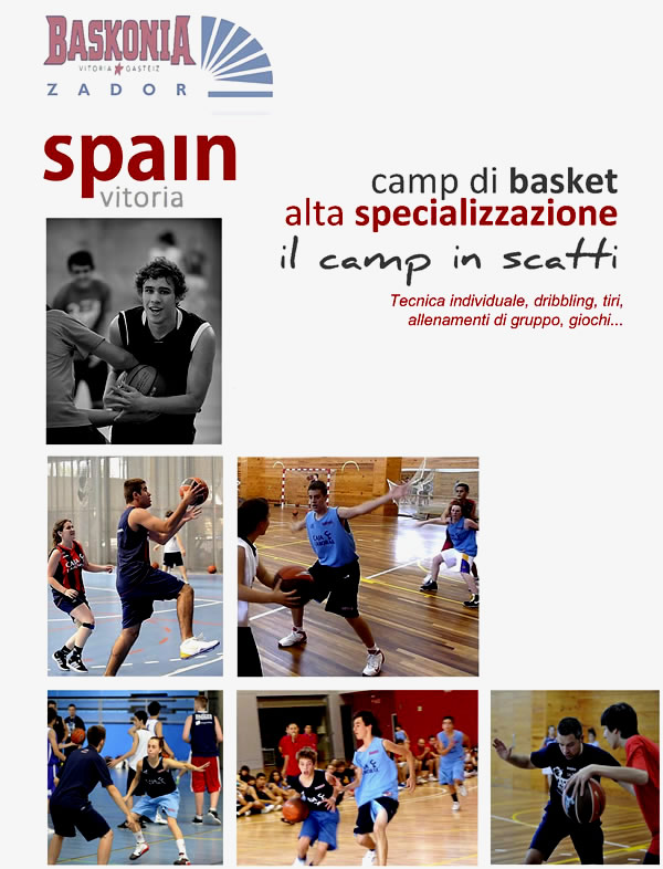 Camp estivo di basket Laboral Vitoria Spagna