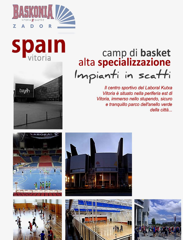 Camp di basket a Vitoria Baskonia