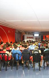 Basketball lectures at the Basketball camp in Vitoria